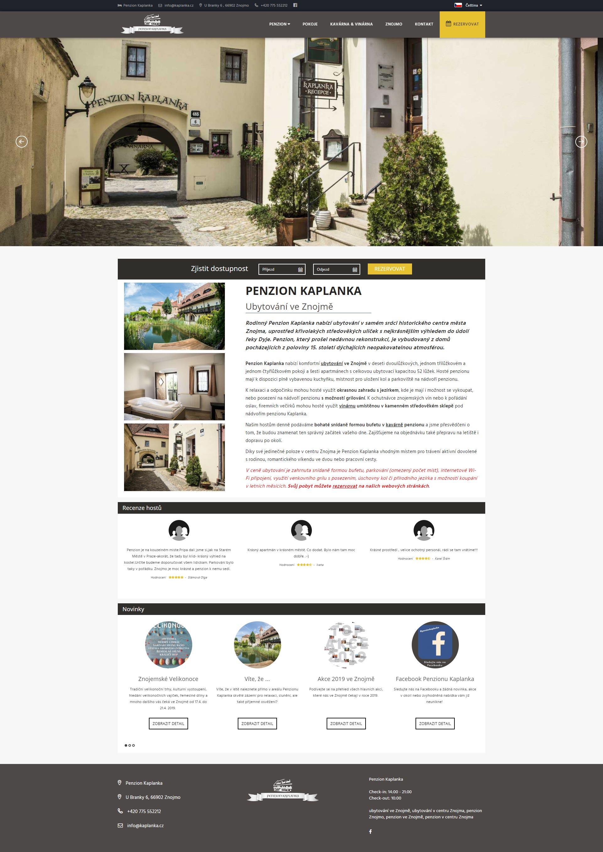 Webové stránky dvou společností